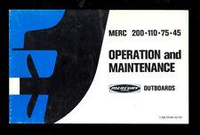 1975 MERCURY 200 / 110 / 75 / 45 OPERATION & MAINTENANCE MANUAL