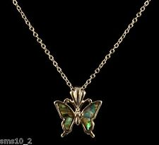 Pretty Paua Shell Butterfly Necklace CJN407