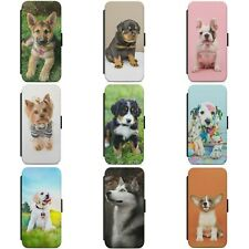 CUTE DOG PUPPY ANIMAL DOGS WALLET FLIP PHONE CASE COVER FOR SAMSUNG