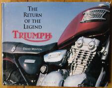 VINTAGE TRIUMPH MOTORCYCLE LEGEND HISTORY BOOK PRE & UNIT BONNEVILLE TR6 TIGER