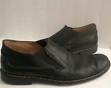 John Varvatos Black Soft Leather Loafers Casual Shoes Size 10 Handmade in Italy