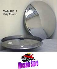 "Set of 4 - 8"" Stainless Steel Baby Moon Hub Cap for Trailer, Dollies, Golf Cart"