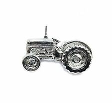 Tractor Pewter Pin Badge/Brooch Farmer Plough Country Collar Lapel Hat Tie