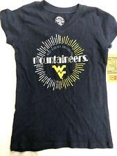 West Virginia University Mountaineers Girls Logo Shirt - S - Blue - C354