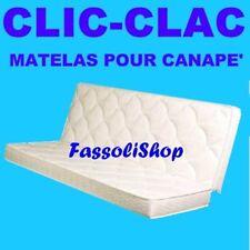 MATELAS POUR CANAPE' CLIC-CLAC  MOUSSE  TAILLE CM 75+75x190 HAUT 14