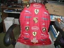 Vintage Ferrari Patch+Shirt with Ferrari & Other Expensive Cars Logos