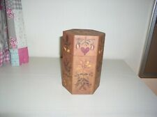 HEXAGON CANDLE BOX BY LANG PRIMITIVES WITH ARTWORK BY ELLEN STOUFFER
