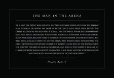 Theodore Teddy Roosevelt the Man in the Arena 13x19 Poster Black Background