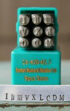 SupplyGuy 3mm 12 Stamp Roman Numeral Metal Design Punch Stamp Set SGCH -Roman3mm