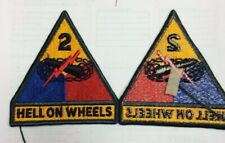 Us Army Second 2Nd Armored Division Hell On Wheels Patch