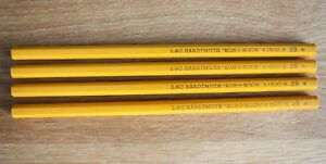 VINTAGE Czechoslovakia L.&C. HARDTMUTH KOH-I-NOOR Lot of 4 Pencils 1500 3B Wood