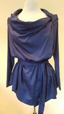 Vivienne Westwood Anglomania blue Hanky blouse with tie IT 44 UK 10-12 BNWT