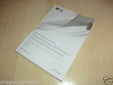 ISTRUZIONI/MANUAL PER LG rct689h Dvd-Recorder/VHS-Player, tedesco & inglese
