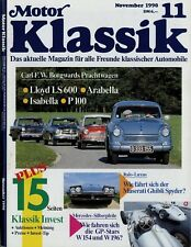 Motor Klassik 11/90 1990 BMW M 635 CSI Cooper Mk 10 Ghibli Spyder Mercedes W154