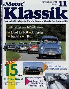 Motor Klassik 1990 11/90 Cooper Ghibli Spyder BMW M635CSI Mercedes W154