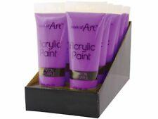 3 x Purple Art Acrylic Paint Tube Set All Colours Crafts Artists Painter 120ml