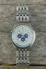 VELLACCIO MENS WATCH WORKING QUARTZ JAPAN SILVER CHRONO LOOK