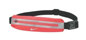 NIKE Slim Running Waist Pack Adjustable ~Bright Crimson/Black/Silver ~ Unisex