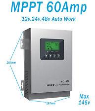 Regulador Solar Carga Solar Autoswitch Solar Panel Controller 60A 12v24v48v MPPT