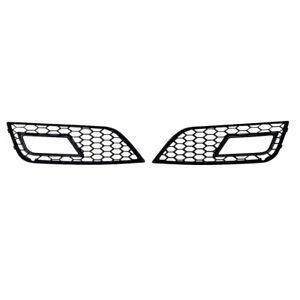 Black honeycomb mesh fog lamp grills for Audi A4 B8.5 2012+