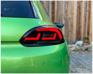 DNA Rear Lights (Red/Smoke) VW Volkswagen Scirocco MK3 08-14 Dynamic Indicators