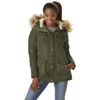 Women's Madden Girl Juniors' Snorkel Jacket Olive XL #NJHSA-633