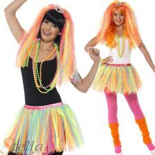 Ladies Party Princess Costume Kit Neon 80s Disco Fancy Dress Tutu & Veil Outfit