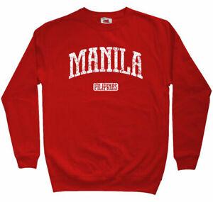 Manila Sweatshirt - Philippines Pilipinas Pinoy Basketball Crewneck - Men S-3XL