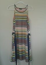 The Limited Striped Spaghetti Multi Color Lined Dress Size M NWT