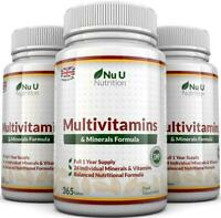 Multivitamins & Minerals 3 x 365 tablets UK Made 100% Money Back Guarantee