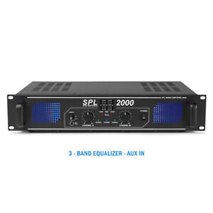 B-Stock Skytec SPL2000 Professional Audio Black DJ Disco PA Power Amplifier