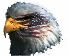 Sticker decal car bike macbook vynil bumper american eagle head flag usa
