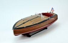 "Gar Wood Speedster Miss Behave Handmade Wooden Classic Boat Model 32"""