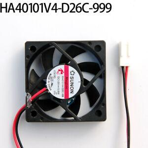 SUNON HA40101V4-D26C-999 4010 4CM 12V 0.8W 2-pin magnetic suspension silent fan