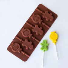 Silicone Gingerbread Man Cake Mold Biscuit Cookie Chocolate Lollipop Lolly Mould