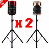 Pair Heavy Duty Adjustable Studio Monitor Speaker Stands Tripod Concert Band VP