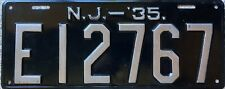 GENUINE  American 1935 New Jersey USA License Licence Number Plate Tag E12767