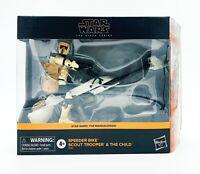 Star Wars Black Series Speeder Bike Scout Trooper & The Child - The Mandalorian