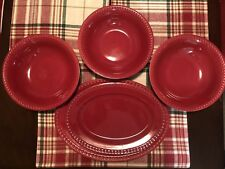 Jcp Home 5 Piece Serving Set Peral Red