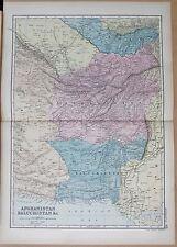 1890 LARGE VICTORIAN MAP - AFGHANISTAN, BALUCHISTAN &c