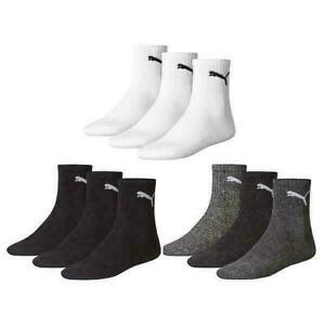 Puma Sports Short Crew Socks (3 Pairs)