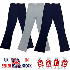 NEW LADIES WOMENS BOOTCUT LEG STRETCH ELASTICATED RIBBED TROUSERS PLUS SIZE 8-26