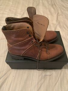 Mike Konos Men's Italian Leather Boots Brown Size 11.5