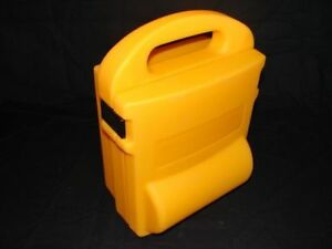 Plastic Box Yellow Wall Mount Stable Approx. 34x17x25cm New