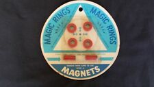 Vintage Magnetic Magic Rings - 1966 in package Smethport Specialty