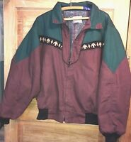 EXPRESS RIDERS XLG Canvas Jacket Coat BLANKET lined Rancher southwest Western