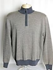 Scott Barber Mens Medium M 1 2 Zip Wool Blend Pullover Sweater Gray Italy ae916f555