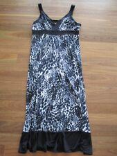 NWT Jacqui E Black/White Maxi Dress Size Medium RRP$99