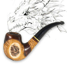 DRAGON Smoking Pipe Wooden Tobacco Pipes Mens Fashion Accessories Pear Wood