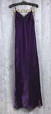 Formal Cocktail Slip Dress Purple Shimmer Sz 7/8 Made In USA De Larue Sheila Yen